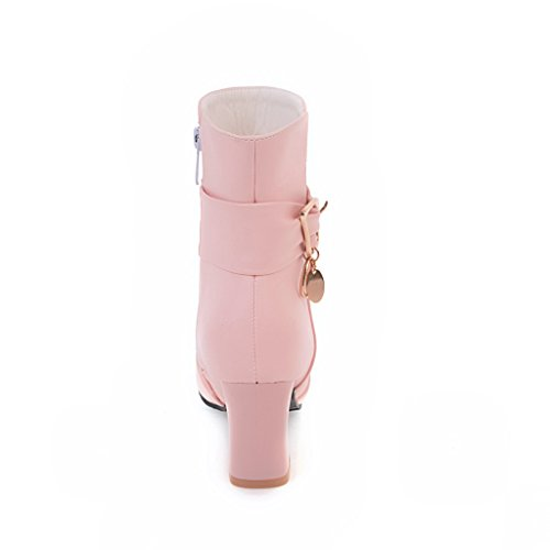 1 Pink Urethane Zip Firm Comfort A UK Womens Metal Boots Solid amp;N Ground AN zwa7qpxHy