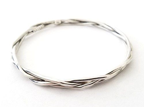 Image Unavailable. Image not available for. Color  Womens 925 Sterling  Silver Bangle ... a5c679dc10