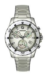Wenger Women's 70749 Sport Chrono White Dial Steel Bracelet Watch