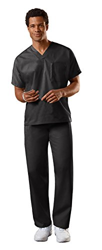 Cherokee Uniforms Authentic Workwear Unisex Scrub Set (Black - Medium / Medium Short) ()