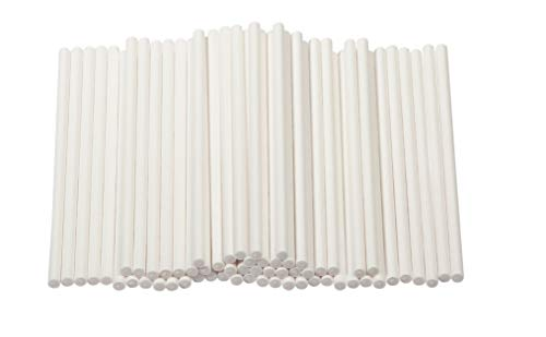 Cake Pop Sticks - 300-Count 4-Inch Paper Treat Sticks for Lollipops, Candy Apples, Suckers, -