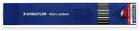 12 Lead by Staedtler 2H Staedtler Mars Carbon Lead 2 mm