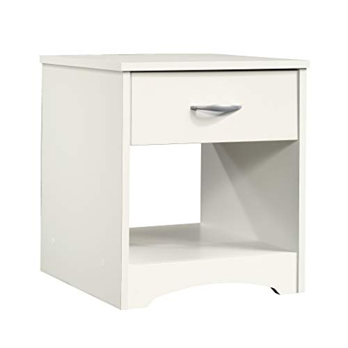 "Sauder 422804 Beginnings Night Stand, 17.09"" L x 14.69"" W x 18.58"" H, Soft White finish"