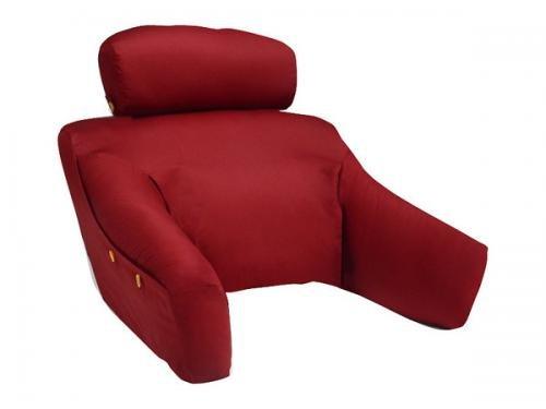 Cequal - S-BDLF-BUR - Cotton FlexArm Bedlounge Bed Reading Pillow - Burgundy - Petite