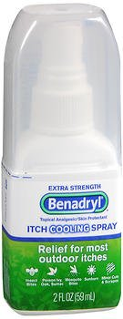 Benadryl Itch Cooling Spray Extra Strength - 2 oz, Pack of 5 by Benadryl