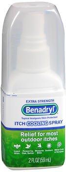 Benadryl Itch Cooling Spray Extra Strength - 2 oz, Pack of (Benadryl Sunburn Itch)