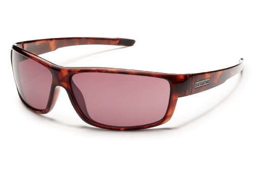 Suncloud Voucher Polarized Sunglasses, Tortoise Frame, Rose - Sunglasses Rose Lens