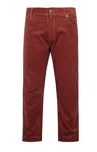 KENGURU COVE Men's Work Corduroy Pants Stretch Slim Fit Tapered Legs(WineRed,32) (Slim Fit Corduroy Pants)