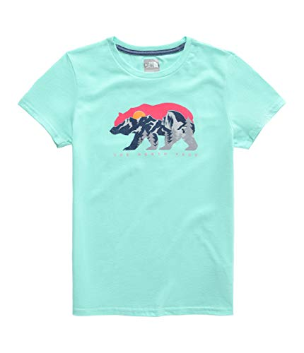 The North Face Kids Girl's Short Sleeve Graphic Tee (Little Kids/Big Kids) Mint Blue Large