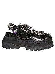 Eytys Women S Atlb002black Black Leather Sneakers