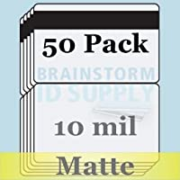 10 Mil Matte Butterfly Pouch Laminates with 1/2 HiCo Magnetic Stripes - 50 Pack