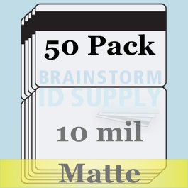 10 Mil Matte Butterfly Pouch Laminates with 1/2