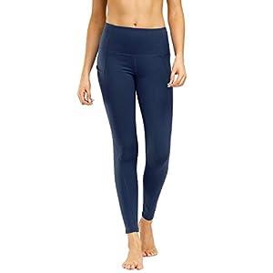 Legging Femme Sport Pantalon Taille Haute Élasticité Respirante Poches Yoga Fitness Pilates Les Sports Gym