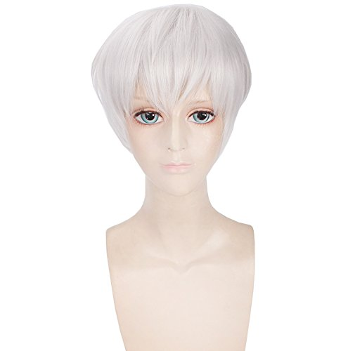 Short Wigs Cosplay Tokyo Ghoul Kaneki Ken White Men Hair Halloween -