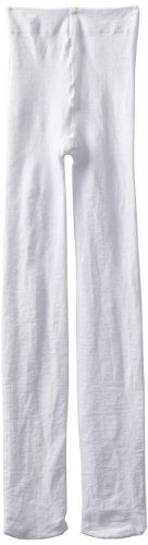 Jefferies Socks Little Girls'  Pima Cotton Tights, White, 8-10 Years -