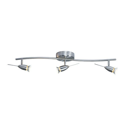 Ikea ceiling track lighting fixture with 3 spotlight bulbs amazon ikea ceiling track lighting fixture with 3 spotlight bulbs aloadofball Images