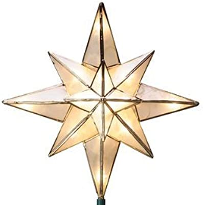 GE 10-in Capiz Lighted Incandescent Capiz Star Christmas Tree Topper 71401LO by GE