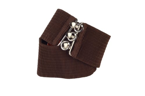 Square Up Large, Brown, 2.25 Inch Wide Elastic Fabric Stretch Cinch Belt with 3 Ring Clasp (Ring Cinch Belt)