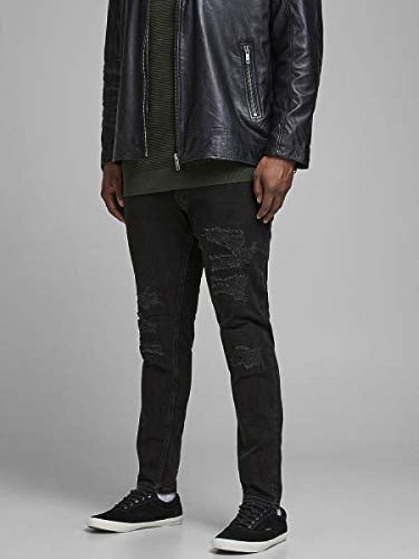 JACK & JONES męskie jeansy Plus Size Skinny Fit Jeans Liam Original AM 502 50SPS: Odzież
