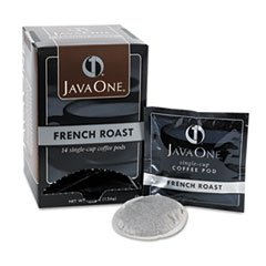 Java One® Coffee Pods, French Roast, Single Cup, (Java Trading Co . French Coffee)