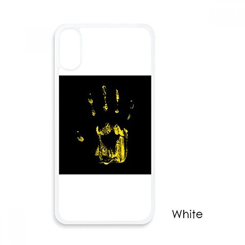 (Halloween Horror Print for iPhone X Cases White Phonecase Apple Cover Case)