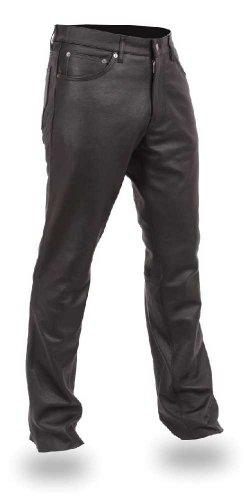 - First Manufacturing Men's 5-Pocket Modem Fit Pants (Black, Size 38)
