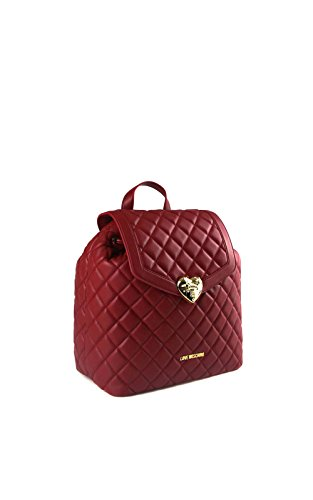 Nappa Pu Dark Red Quilted Borsa Moschino Rosso HqnF57