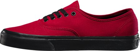 Black Sole Vans Authentic jester Red F4Ex5Hwq
