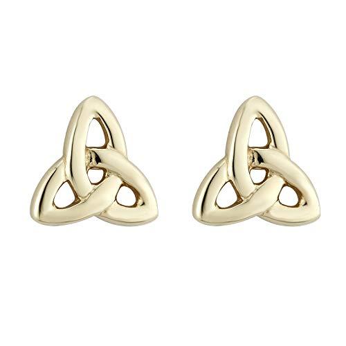 Trinity Knot Large - Tara Trinity Knot Earrings Gold Plated Studs Made in Ireland