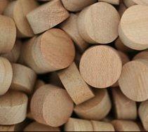 WIDGETCO 1/2'' Cherry Wood Plugs, Face Grain