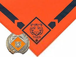 Cub Scout Tiger Neckerchief With Slide - Official BSA Uniform Apparel