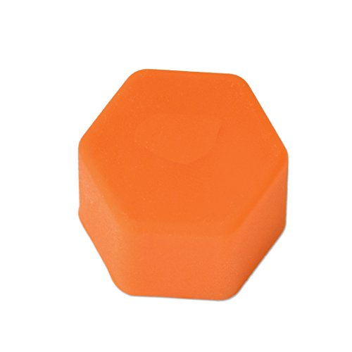 20pcs Universal 21mm Silicone Car Wheel Lug Nut Bolt Cover Protective Tyre Valve Screw Cap Antirust Orange
