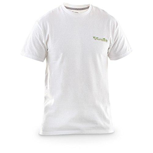 Men's Columbia PFG Elements Short-sleeved T-shirt, WHITE, LG