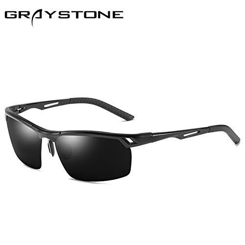 sunglasses Gafas de al 1 de Gafas Deportivas Gafas Black equitación Aluminio Hombre Libre Negro conducción polarizadas de Mjia Sol Aire magnesio Gafas 5dwPxqad1