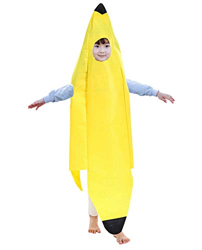 Children's Festive Costume Banana Cosplay Apparel Funny Fruit for Costume Party Fancy Ball -