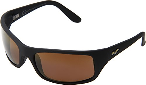 Maui Jim Unisex Peahi Matte Black/Hcl Bronze One Size (Maui Sunglasses Jim)