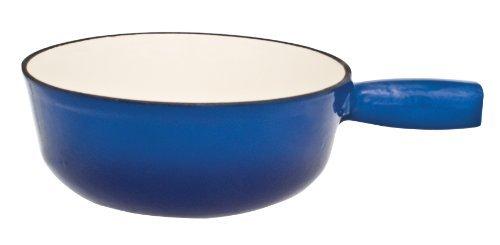 Le Cuistot Enameled Cast-Iron 8.3 Inch Fondue Pot - 2 Tone Blue