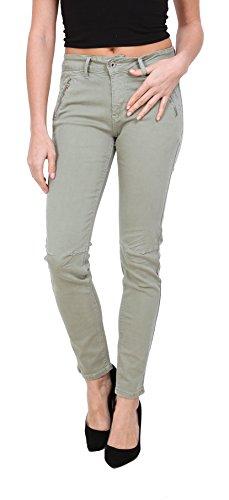 Mujer Verde Slim Pantalones Stretch Vaqueros 36 Pitillos Onado Talla Jeans 44 A Denim HqRa71nw4