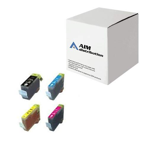 AIM Compatible Replacement for Canon BCI-3E Inkjet Combo Pack (BK/C/M/Y) (4479A230) - - Compatible 3e Cartridge Replacement Bci