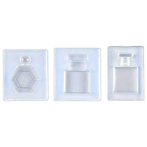 (KathShop 3 Pcs Perfume Bottle Epoxy Resin Shape Mold, Pendant Clay Silicone Mold with Jewelry Molds,Earring Necklace Making and DIY CRA)