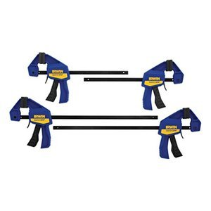 "IRWINQUICK-GRIPOne-Handed Mini Bar Clamp 4 Pack, (2) 6"", (2) 12"", 1964748"