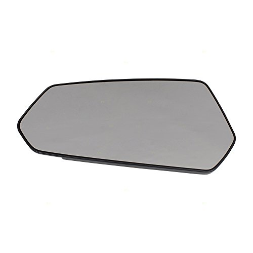 Drivers Side View Mirror Glass & Base Replacement for 10-15 Chevrolet Camaro 92235872