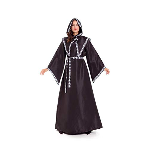 JUFAN MINGCLE Halloween Dark Mystic Tunic Hooded Robe Cloak Cosplay Costume (Women) -