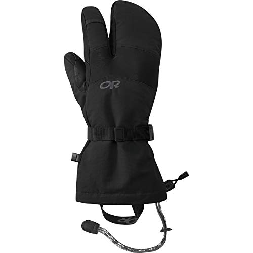 Outdoor Research Men's Highcamp 3-Finger Gloves, Black, Large
