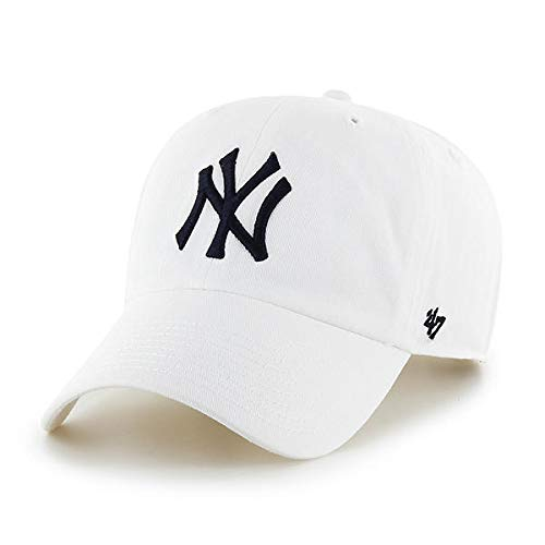 White Hat Brands - '47 Brand MLB NY Yankees Clean Up Cap - White