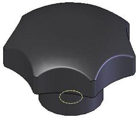 5//8-11 thds. Kipp KBP-261 Thermoplastic Seven-Lobe Knob 2.48 Diameter