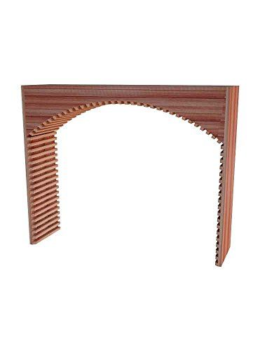 Wine Cellar Innovations DAH-UN-ARCH_LAQG1-A3 Designer Series Archway Wine Rack, Allheart Redwood, With Lacquer Finish, Unstained