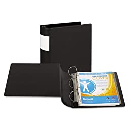 DXL Heavy-Duty Locking D-Ring Binder With Label Holder, 4\