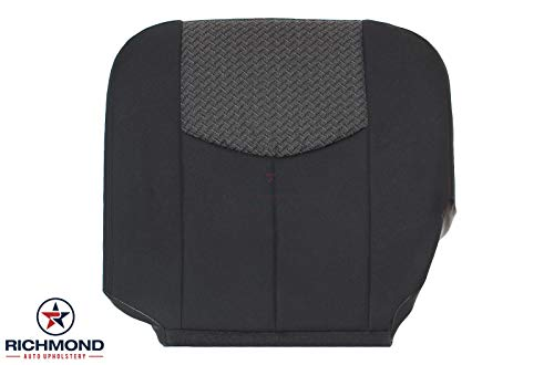 - Richmond Auto Upholstery 2003 2004 Chevy Avalanche 1500 LS Z66 Z71 Truck - Driver Side Bottom Replacement Cloth Seat Cover, 50/50 Seat Setup, Dark Gray