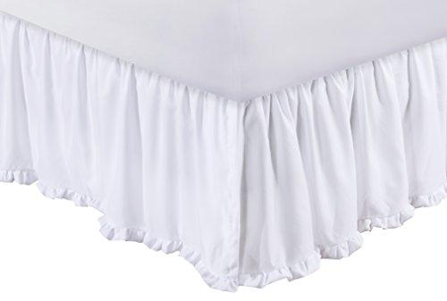 Greenland Home Sasha Bed Skirt, White Twin (Bed Sasha)
